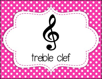 Rainbow Neon Polka Dot Music Signs, Symbols, Notes, and Rests