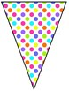 Rainbow Neon Polka Dot Welcome to Music Pennant Banner