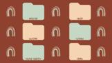 Rainbow Neutral Earth Tones Academic Subject Desktop Wallp
