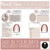 Rainbow Neutral Meet the Teacher Open House/Meet and Greet