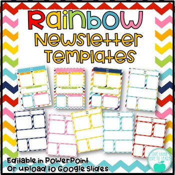 Rainbow Newsletter Templates