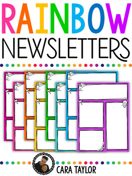 Rainbow Newsletters ~ Editable!