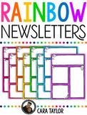 Rainbow Newsletters ~ Editable!