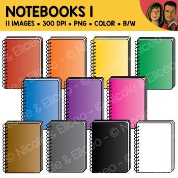 Rainbow Notebook Clipart