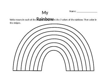 Rainbow Noun Activity