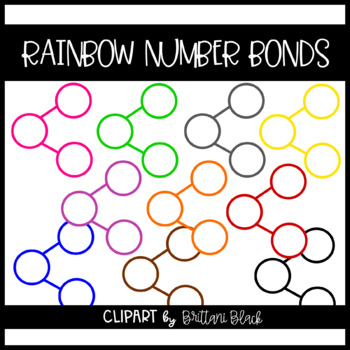 Rainbow Number Bonds~ Clipart