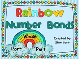 Rainbow Number Bonds - Differentiated Math Work Station- Addition Subtraction