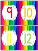 Rainbow Number Cards for Counting