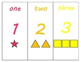 Rainbow Number Cards to 20 with Shapes