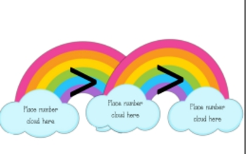 Rainbow Number Comparisons (greater than, less than)