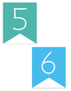 Rainbow Number Line Banners
