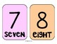 Rainbow Number Line/Number Cards up to 100