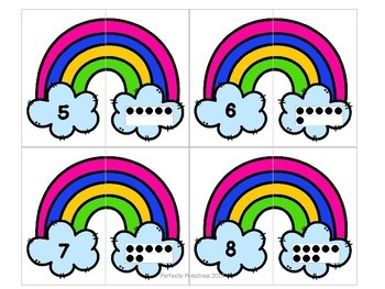 Rainbow Number Match {Freebie}