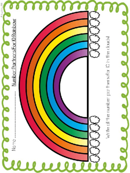 Rainbow Number Partners For 10 Activities