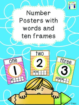 Rainbow Number Posters with ten frames