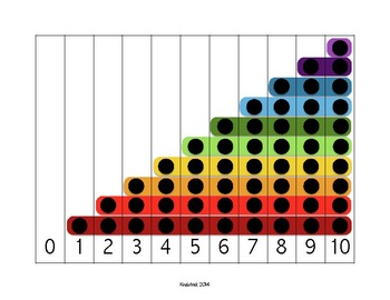Rainbow Number Puzzle 0-10 Math Center
