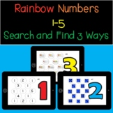 Rainbow Number Recognition and Counting 1-5 -Boom Cards fo