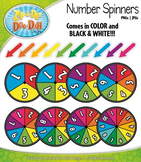 Rainbow Number Spinners Clipart {Zip-A-Dee-Doo-Dah Designs}