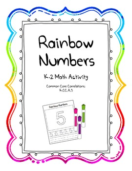Rainbow Number Writing