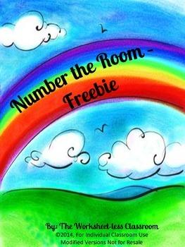 Rainbow Number the Room Freebie
