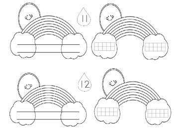 Rainbow Numbers 10-19-Using Tens and Ones - booklet w tens frames and rekenrek
