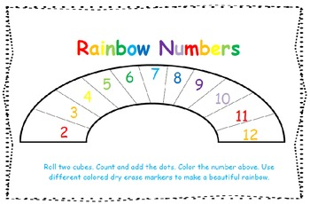 Rainbow Numbers Addition