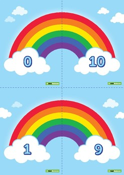 Rainbow Number Facts Pack - Poster, Worksheet & Match-Up Cards