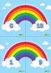 Rainbow Numbers Poster and Worksheet
