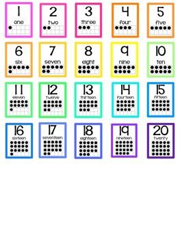 Rainbow Numbers - Ten Frames