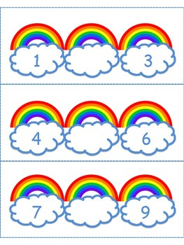 March Activities: Rainbow Numbers:  What's the missing number Math Center