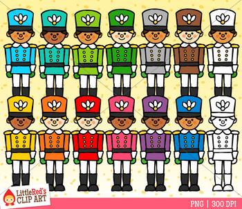 Rainbow Nutcracker Soliders Clip Art