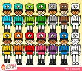 Rainbow Nutcracker Soliders Christmas Clip Art