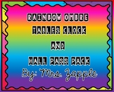 Rainbow Ombre Tables, Clock, and Hall Pass Pack