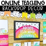 Rainbow Online Teaching Backdrop Decor - Distance Learning