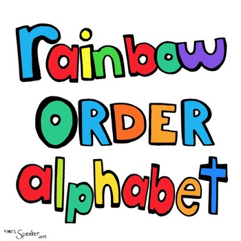 Rainbow Order Alphabet