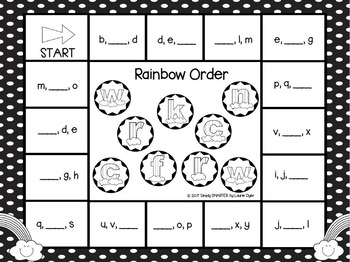 Rainbow Order:  NO PREP ABC Order Bump Game