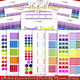 Rainbow Organizational Printable Planner Stickers Kit-21 p