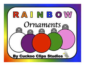 Rainbow Ornaments Clip Art
