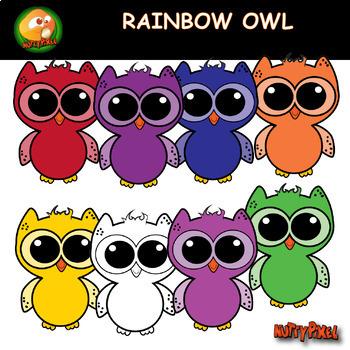 Rainbow Owl Clip Art Clip Art