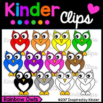 Rainbow Owl Clipart