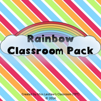 Rainbow Pack - Classroom Decor, Posters, and Tools