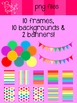 Rainbow Pack - frames, backgrounds & banners!