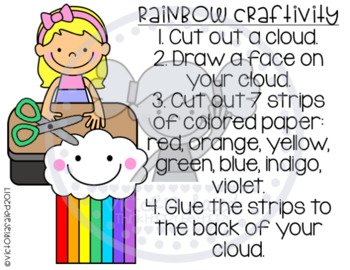 Rainbow Packet: posters, printables, mini-book, experiment