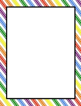 Rainbow Pages and Borders Freebie!
