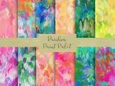 "Rainbow Paint Palets Digital Papers, 12"" x 12"" High Resolu"