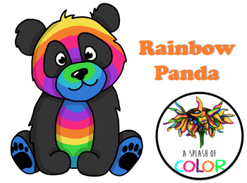 Rainbow Panda Clipart