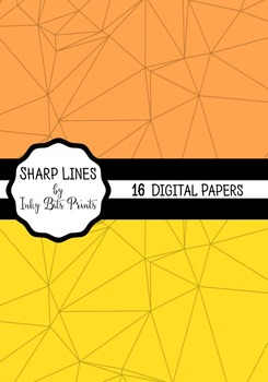 Rainbow Paper Pack - Sharp Lines Geometric Patterns