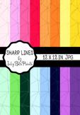 Rainbow Paper Pack - Sharp Lines Geometric Patterns