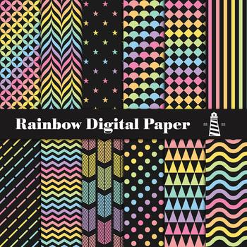 Rainbow Paper, Rainbow Backgrounds, Prismatic Patterns