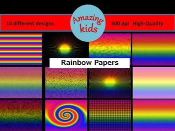 Rainbow Papers Clip Art